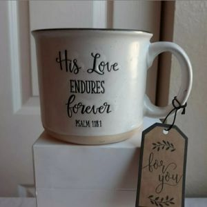 """Sheffield Home Bible Verse"""" His Love Endures Forev"""